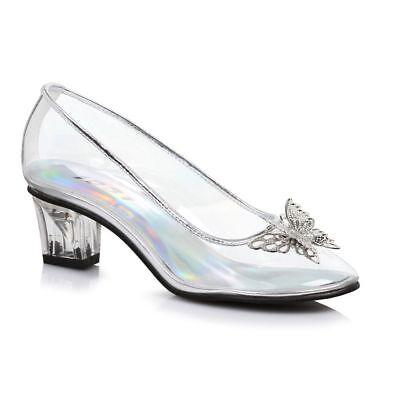 Clear Glass Slippers Princess Cinderella Frozen Costume Shoe Child Girls 2 3 4 5