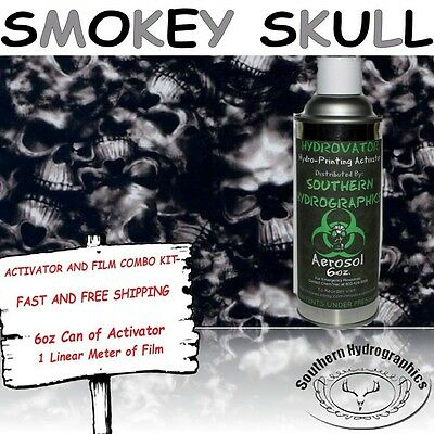 Hydrographic Film Water Transfer Hydro Dip 6oz. Activator Smokey Skulls Dip Kit