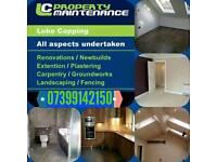 Plasterer/carpenter general building services