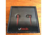 Beats by Dr. Dre Urbeats In-Ear only Headphones - Black/Red - FREE POSTAGE