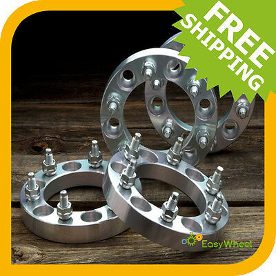 4 Chevy or GMC 6x5.5 Wheel Spacers Adapters with 14x1.5 studs 1 inch thick