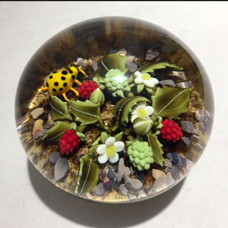 Clinton Smith glass paperweight