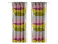 IKEA MALIN FIGUR - Curtains, 1 pair, multicolour - 145x300 cm - two free cushions BRAND NEW