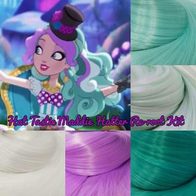 Ever After High Hat-Tastic Maddie Hatter Doll Re-root Pack Nylon Hair Intl SHIP - Ever After High Maddie Hatter