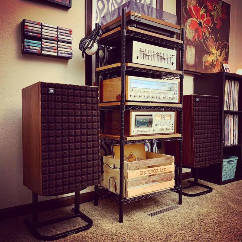 APARA™ Vintage Speaker Stands     Black Powder-Coated Steel     (One Pair)