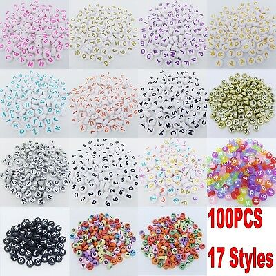 100PCS Spacer Acrylic Beads DIY Cube Making Loose Random Alphabet Jewelry Letter](Diy Letters)