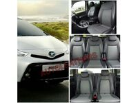 MINICAB/PCO LEATHER CAR SEATCOVERS FOR TOYOTA PRIUS TOYOTA PRIUS PLUS FORD GALAXY VOLKSWAGEN SHARAN