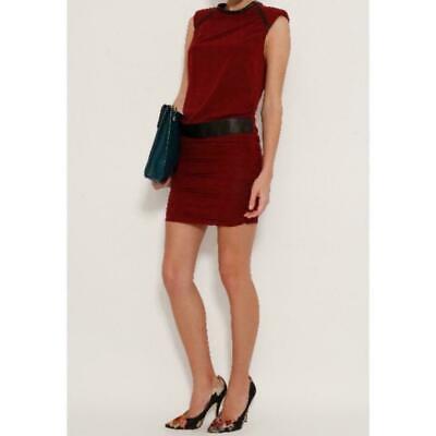 Iro sedani silk blend and leather dress, size 36