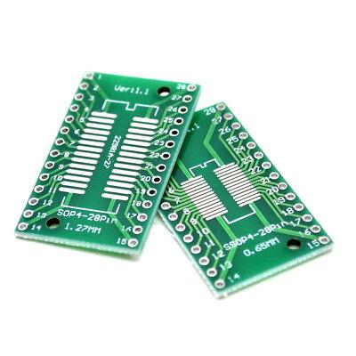 5pcs So28 Sop28 Ssop28 Tssop28 Soic28 To Dip28 Adapter Converter Pcb Board