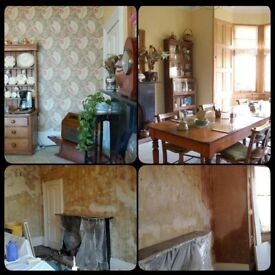Plastering, taping, joinery, repairing walls and ceilings, painting, decorating and more..