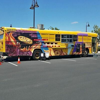 Turnkey Diesel Bluebird Bus Pizza Food Truck W Wood Fired Oven For Sale In Cali