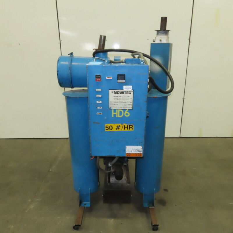 Novatec NPD-50 Dehumidifying Desiccant Resin Dryer 230V 1/3Hp 13kVa 50Lb/Hr.