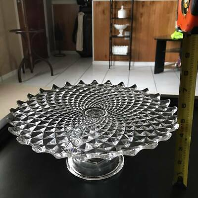 Cake Stand Early Sawtooth • New England Glass Company -