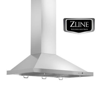 "36"" ZLINE NEW STAINLESS STEEL LED WALL MOUNT RANGE HOOD LIFETIME MOTOR KB-36"