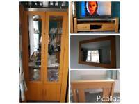 Tv unit, display unit, mirror, coffee tables