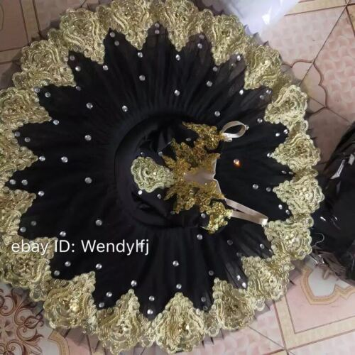 Adult Professional Ballet Platter Tutu Skirt Dance Dress Black Ballet Costume