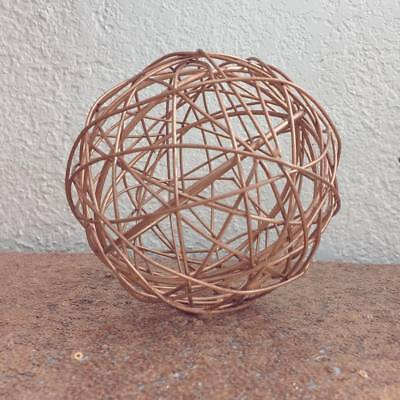 Rose Gold Decorative Metal Sphere (Small)