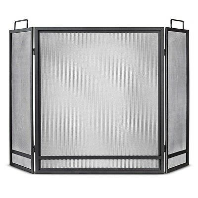 Fireplace Screen - Matte Black Finish - Threshold™