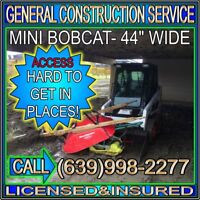 Mini - Bobcat - Truck - Dump Trailer - Service -