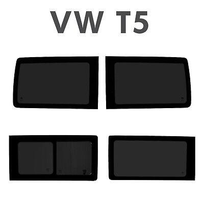 VW T5 Transporter Full Set Of Side Windows, 1 x Sliding window, 3 fixed for swb