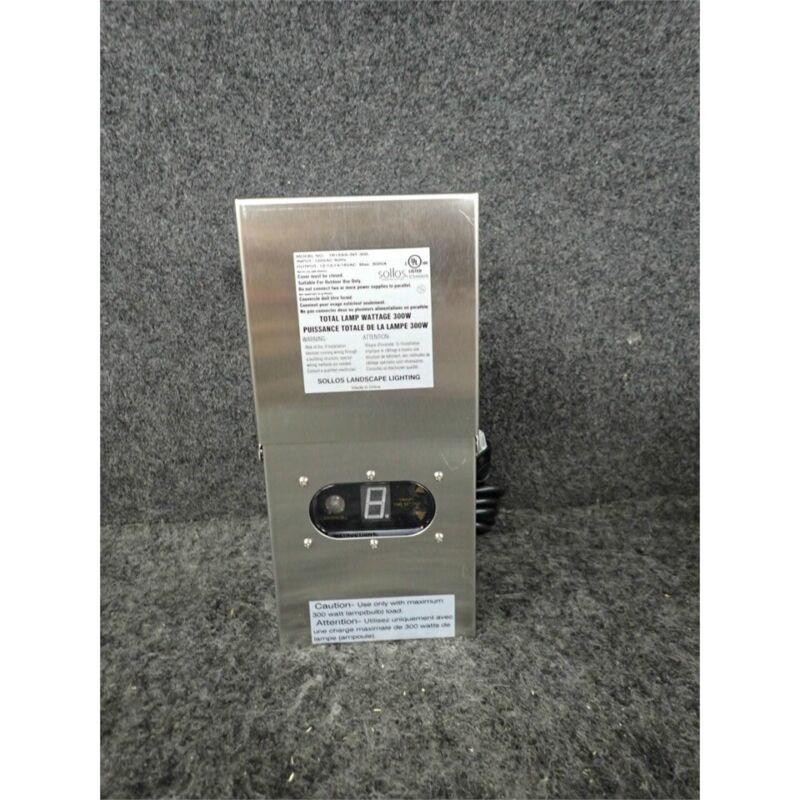 Sollos 997018 Landscape Lighting Transformer, Stainless Steel TR15SS-INT-300