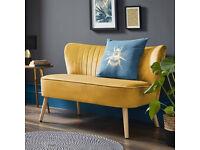 New Yellow Velvet Sofa