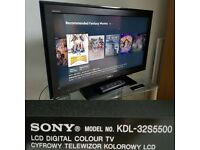 "Sony KDL-32S5500 TV reviews and prices: 32"" HD Ready LCD screen"