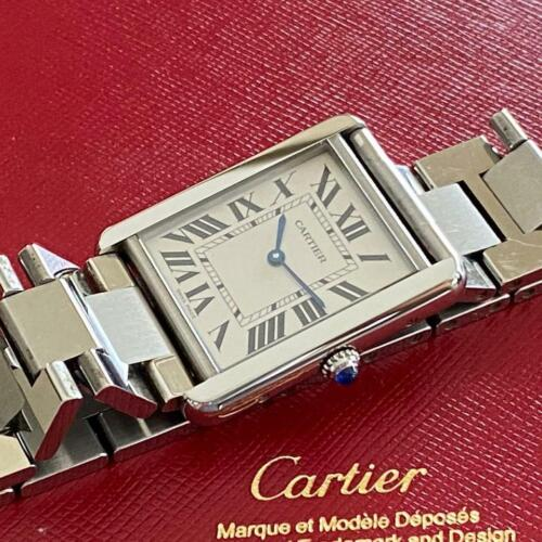CARTIER TANK SOLO W5200014 3169 LARGE WATCH 100% GENUINE BOX STAINLESS STEEL - watch picture 1