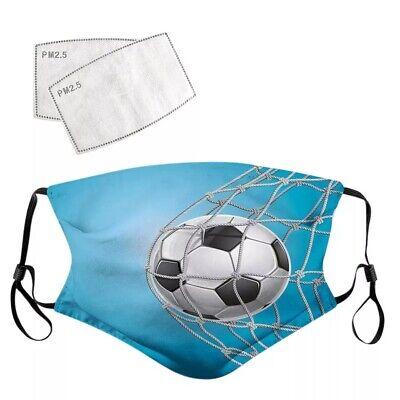 Fussball blau Tor Fan - Mundschutz Maske Mund Nase Schutz NEU