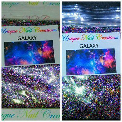 Limited Edition Glitter Mix~GALAXY* Comes W Alloy~ Acrylic Nail~Nail Art