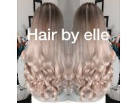 Hair extensions mobile beauty works la Weave tape bonds micro beads nanos links Russian fitting