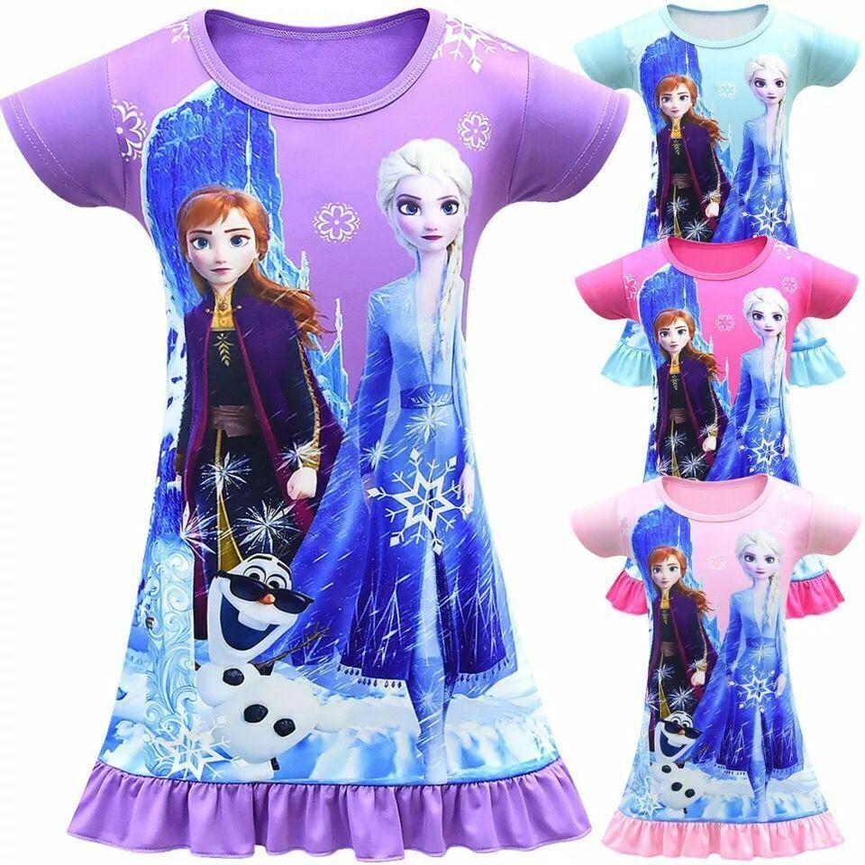 Froze22 Elsa Anna Girls Princess Queen Cosplay Costume Grils