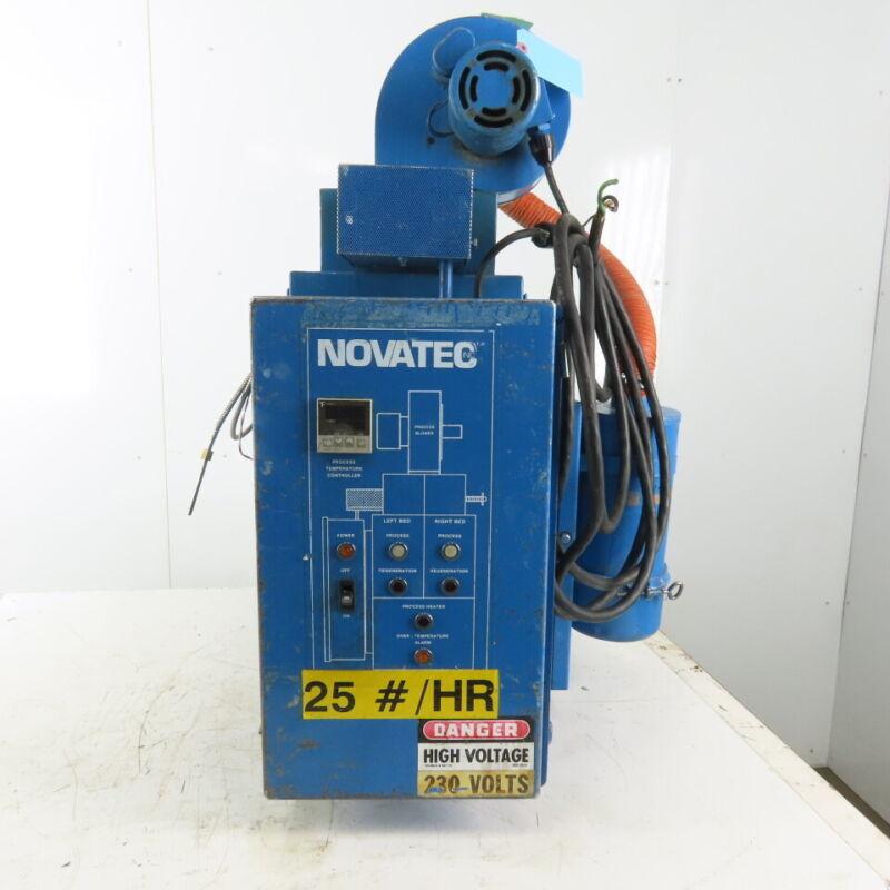 Novatec MD-25 Dehumidifying Plastic Granular Desiccant Dryer 230V 1Ph 25 Lbs/hr