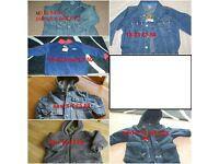 childrens coats/jumpers (9-24 months) + 8-10 years and scarves, hats and gloves