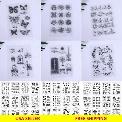 Silicone Clear Stamp Transparent Rubber Stamps DIY Scrapbook Christmas - Christmas Stamps