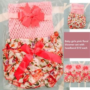 Baby girls pink floral bloomer 3 pc set Mountain Creek Maroochydore Area Preview