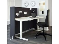 Ikea Bekant Sit/Stand Office Desk - White Electrically Height Adjustable Desk - FREE DELIVERY