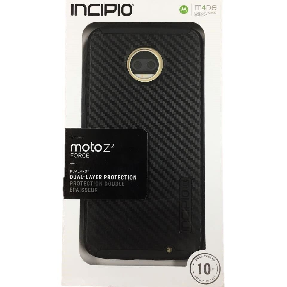 Incipio DualPro Case Protection Case Cover for Moto Z2 Force Edition Black