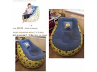 Childs inflatable minions chair
