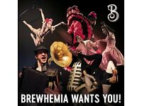 Brewhemia is coming! Recruiting now for Baristas, Hosts, Bar Staff and Floor Staff