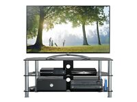 1home 120 cm GT5 Glass TV Stand NEW
