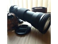 Tamron SP 150-600mm F5-6.3 Lens with Camouflage Jacket
