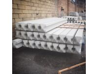 8ft Reinforced Concrete Fence Posts / slotted Posts ⭐️ heavy duty ⭐️