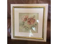 Laura Ashley Blum Double Flower Painting