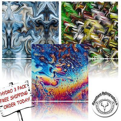 Hydrographic Film Water Transfer Printing Film Hydro Dip Oil Slick 3 Pack