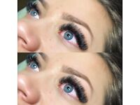 russian volume lashes/ombre eyebrows
