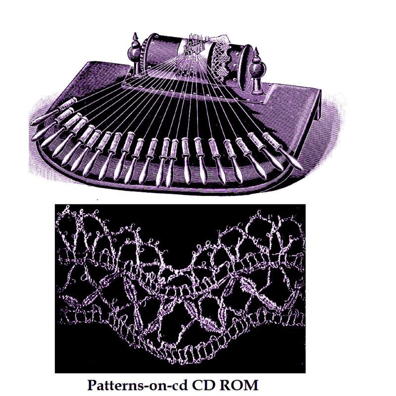 Victorian Torchon Bobbin Lace making handbook patterns CD