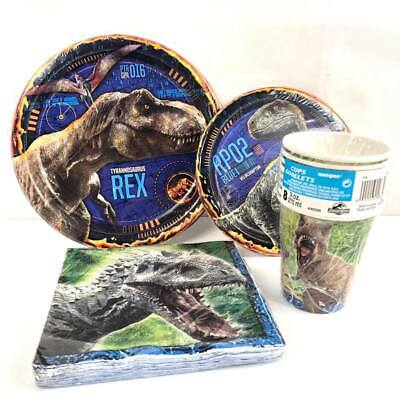 Jurassic Park Dinosaur Party Express Pack for 8 Guests (Cups Napkins & Plates) - Dinosaur Plates