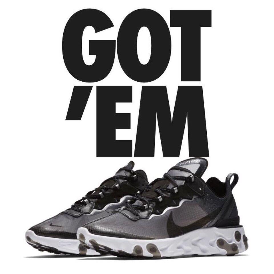 Nike React Element 87 Black And White UK 11