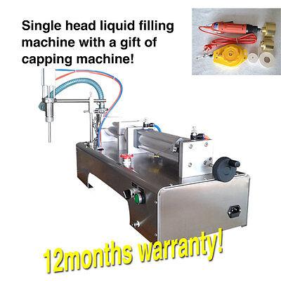 Usa Stock Nowsingle Piston Fillerliquid Filling Machine1 Bottle Capper1000ml